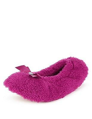 Ballerina Slippers, CRANBERRY, catlanding
