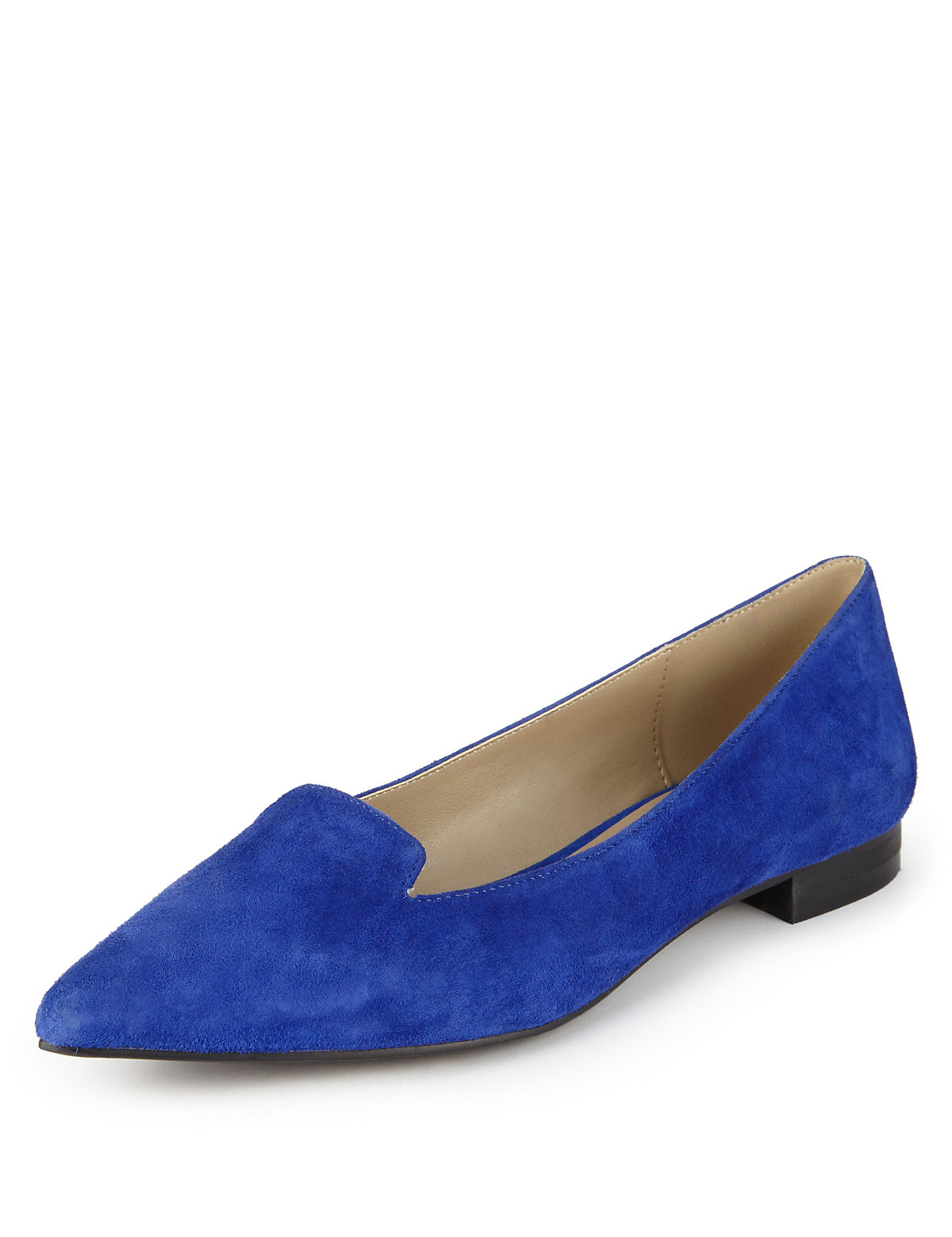 Suede Stain Away™ Albert Flat Pointed Toe Pumps with Insolia Flex®