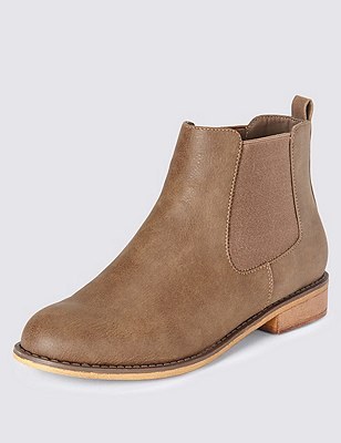 Faux Suede Chelsea Ankle Boots with Insolia Flex®, TAUPE, catlanding