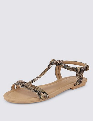 T-Bar Sandals, NATURAL MIX, catlanding