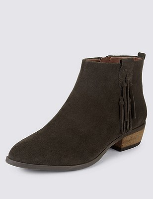 Stain Away™ Suede Ankle Boots with Insolia Flex®, GRAPHITE, catlanding