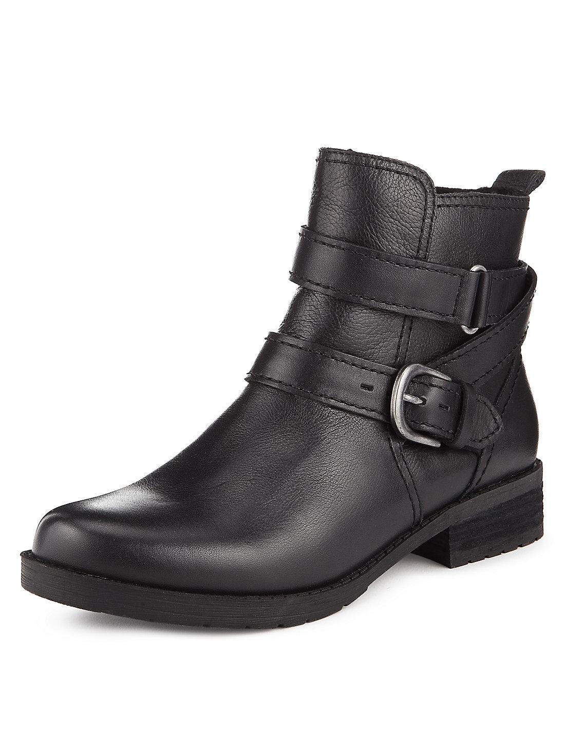 Image result for mark n spencer black ankle biker boot