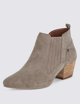 Stain Away™ Suede Chelsea Ankle Boots with Insolia®, MINK, catlanding