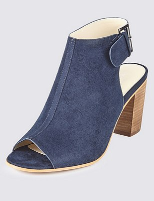 Faux Suede Slingback Sandals with Insolia®, NAVY, catlanding