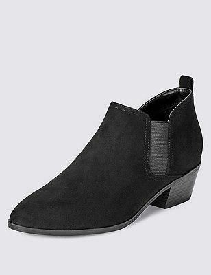 Western Heel Chelsea Boot, BLACK, catlanding