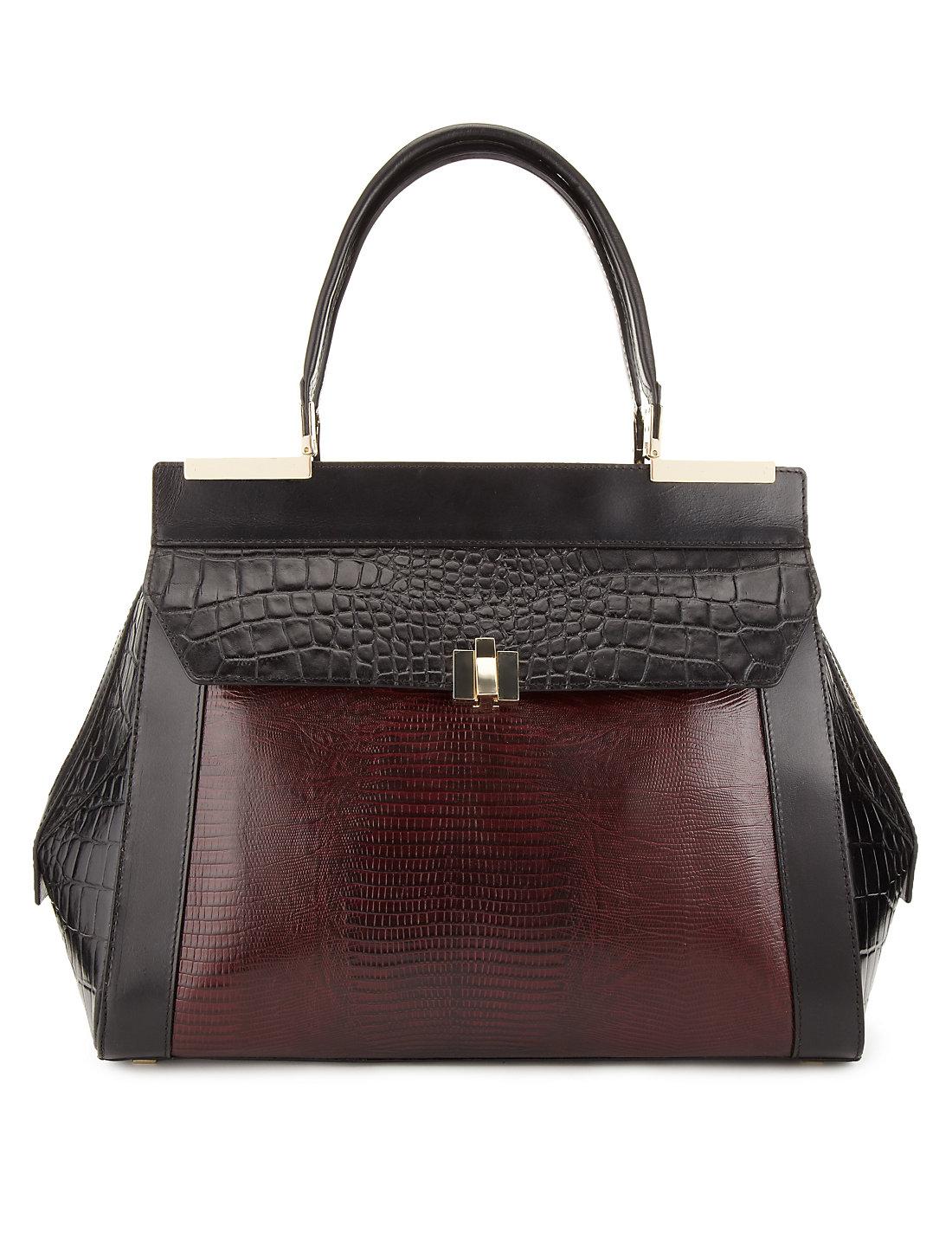 Black leather bag marks and spencer