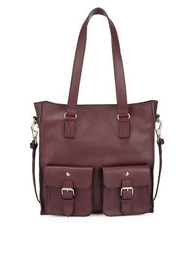 Best of British Leather Twin Front Pockets Shopper Bag Clothing