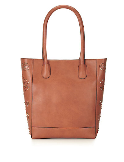 Twiggy for M&S Collection Studded & Panelled Shopper Bag Clothing