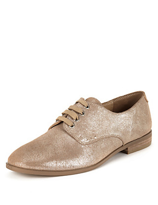 Leather Glitter Brogue Shoes with Insolia Flex® Clothing