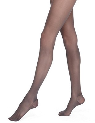 20 Denier Firm Support Sheer Tights 1 Pair Pack, NEARLY BLACK, catlanding