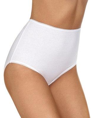 5 Pack Pure Cotton Full Briefs, WHITE, catlanding