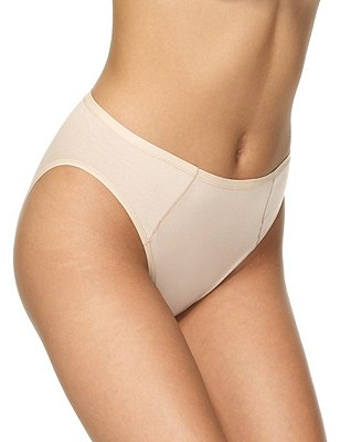 5 Pack Supima® Cotton & Modal No VPL High Leg Knickers, NATURAL MIX, catlanding