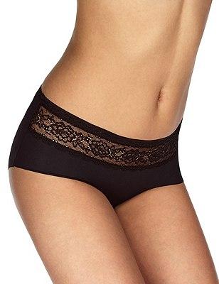 Smoothlines™ No VPL Lace Low Rise Shorts, BLACK, catlanding