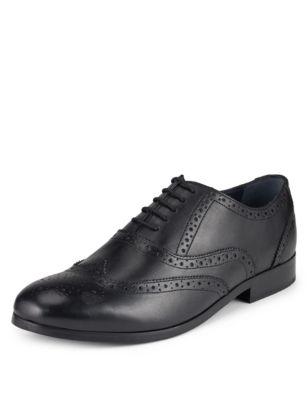 Кожаные туфли броги