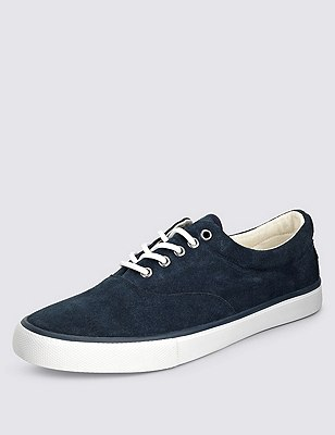Suede Oxford Pumps, NAVY, catlanding