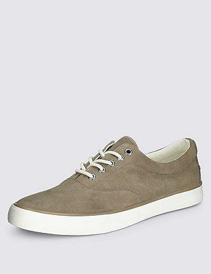 Suede Oxford Pumps, STONE, catlanding