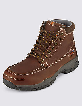 Leather Lace Up Waterproof Boots