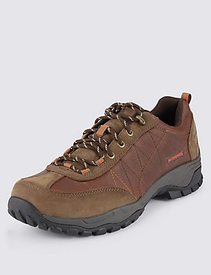 Leather Lace-up Storm Walker Boots, BROWN, catlanding