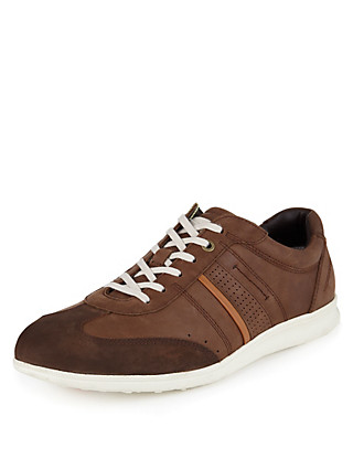 Suede Stitched Trainers Clothing