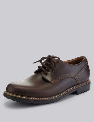 Кожаные туфли гибсон с устойчивой подошвой