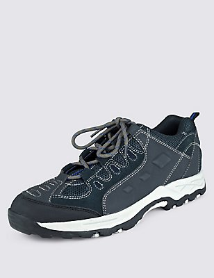 Leather Ghillie Lace-up Trainers, NAVY, catlanding