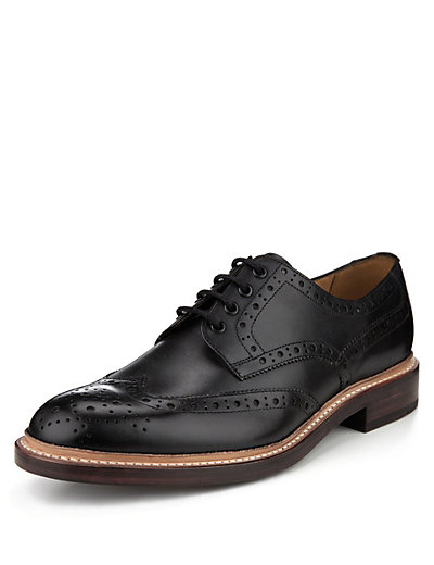 Leather Welted Brogue Shoes Clothing