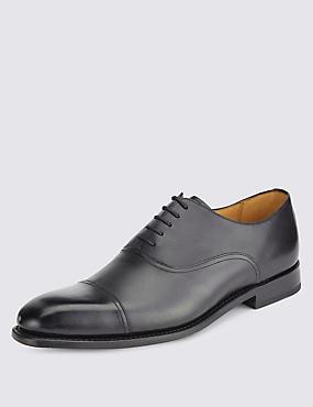 Leather Lace-up Shoes, BLACK, catlanding
