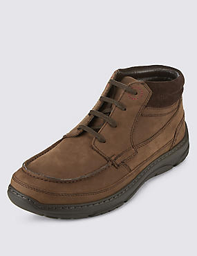 Airflex™ Leather Extra Wide Fit Derby Boots