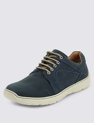 Airflex™ Leather Extra Wide Fit Lace Up, NAVY, catlanding