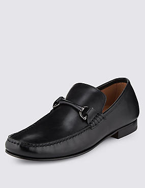 Leather Snaffle Slip-On Loafers