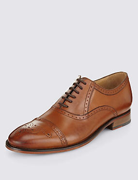 Leather Toe Cap Brogue Shoes