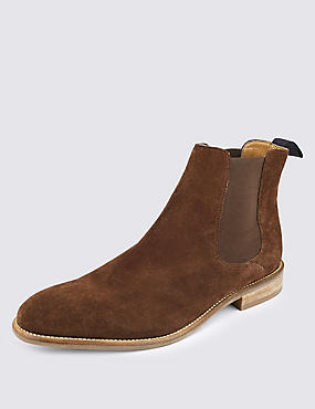 Bottines Chelsea en daim, MARRON, catlanding