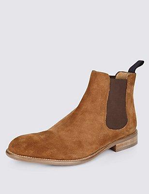 Suede Chelsea Boots, TAN, catlanding