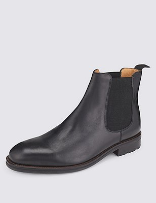 Leather Chelsea Boots, BLACK, catlanding