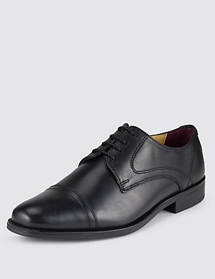 Leather Toe Cap Brogue, BLACK, catlanding