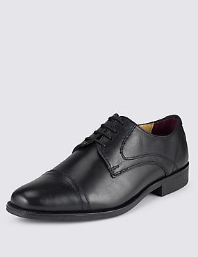 Leather Toe Cap Brogue, BLACK, catlanding
