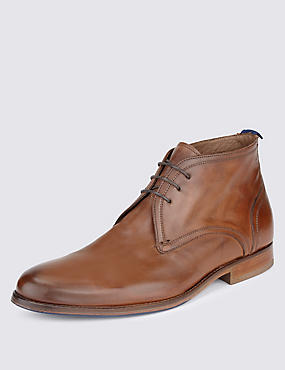 Leather Lace Up Chukka Boot