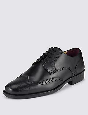 Grandes tailles– Derbys style richelieux en cuir à lacets, NOIR, catlanding