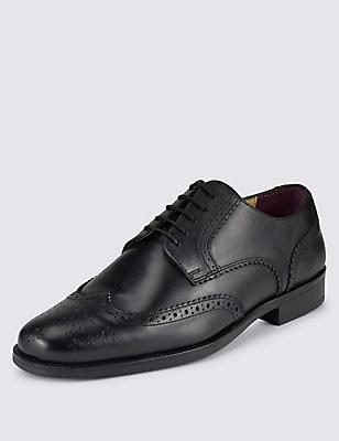 Leren Brogue schoenen , ZWART, catlanding