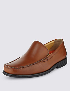 Airflex™ Leather Slip-On Loafers