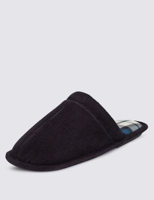 Вельветовые тапочки-слиперы с подошвой Thinsulate™ M&S Collection T038550S