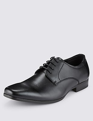 Lace-up Derby Shoes, BLACK, catlanding