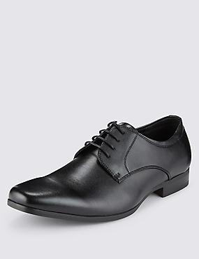 Lace-up Derby Shoes, BLACK, catlanding