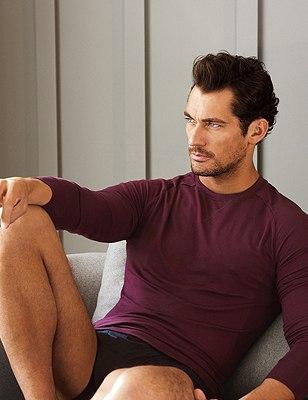 Slim Fit Pyjama Top Supima® Cotton with Modal®, BERRY, catlanding