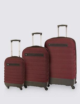 Hybrid Large Suitcase, AUBERGINE, catlanding