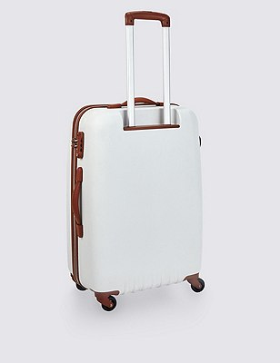 Medium 4 Wheel Hard Rollercase, WHITE, catlanding