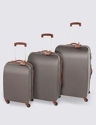 Ultralight Heritage 4 Wheel Cabin Suitcase, TAN, catlanding