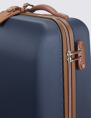 Ultralight Heritage 4 Wheel Medium Suitcase, NAVY, catlanding