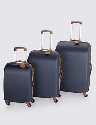 Ultralight Heritage 4 Wheel Large Suitcase, NAVY, catlanding