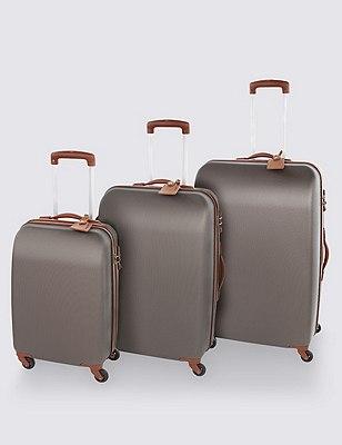 Ultralight Heritage 4 Wheel Large Suitcase, TAN, catlanding